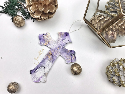 Cross Wooden Ornament