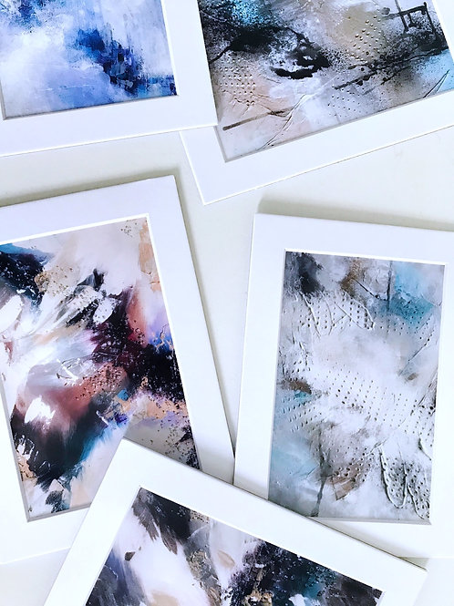 Matted Original Abstract Prints