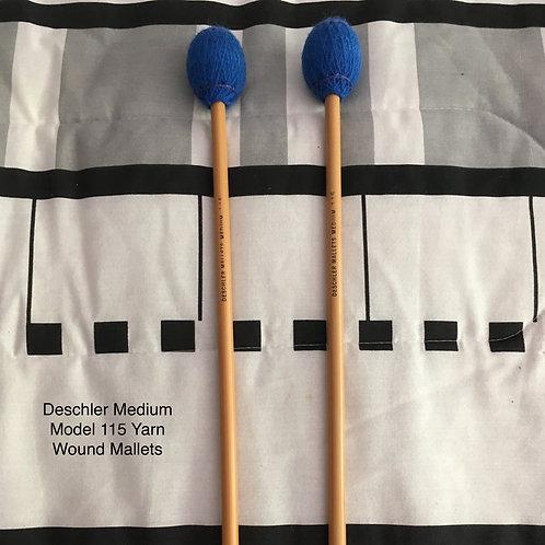 Deschler Model 115 Medium Soft Blue Yarn Rattan Mallets