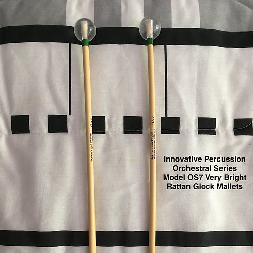 Innovative Percussion OS7 Very Bright Rattan Glock Mallets