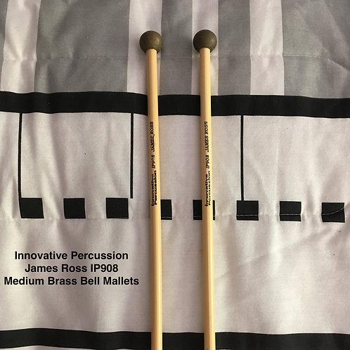 Innovative Percussion James Ross IP908 Medium Brass Bell Mallets