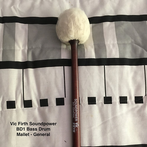 Vic Firth BD1 General Bass Drum Mallet