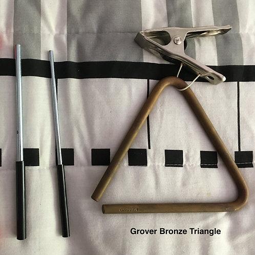 "Grover Bronze 6"" Triangle & 2 Danmar Beaters"