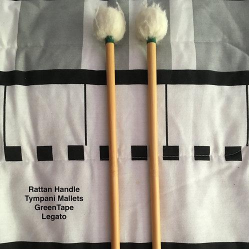 Rattan Handle Tympani Mallets - Legato