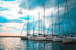 Yachts in docks