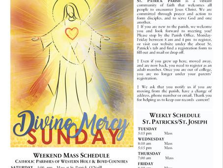 Sunday April 11th, 2021 - Divine Mercy Sunday