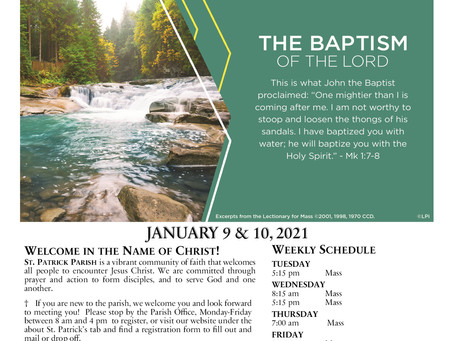 January 10th, 2021 - The Baptism of the Lord