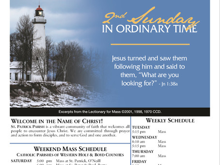 1/17/2021 2nd Sunday in Ordinary Time