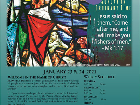 January 24th, 2021 - 3rd Sunday in Ordinary Time