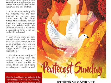Sunday May 23rd, 2021 - Pentecost Sunday