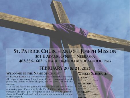 Sunday, February 21st, 2021 - 1st Sunday of Lent