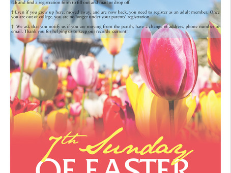 Sunday May 16th, 2021 - 7th Sunday of Easter