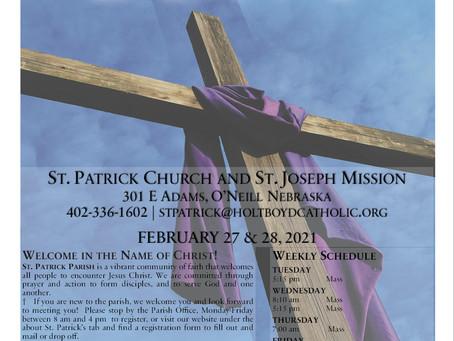 Sunday, February 28th, 2021 - 2nd Sunday of Lent
