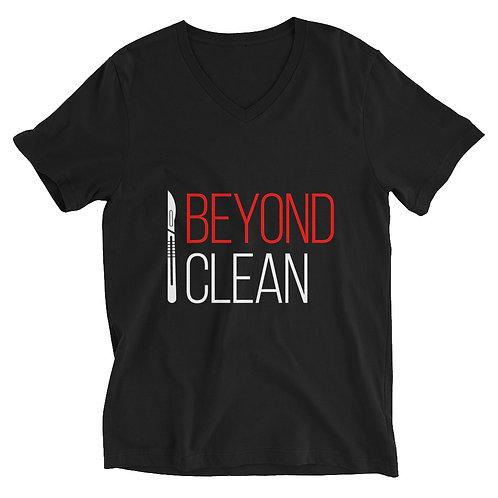 Beyond Clean (Unisex Short Sleeve V-Neck T-Shirt)