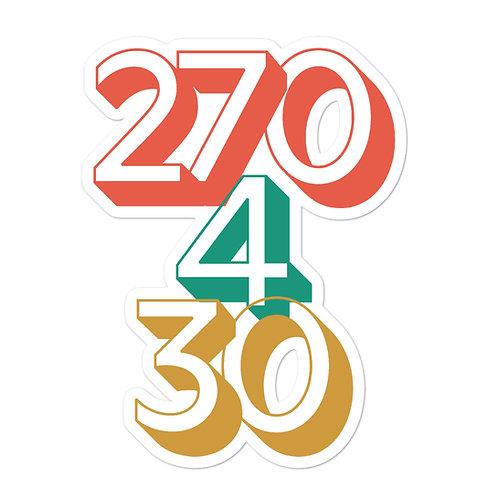 270/4/30 Sticker