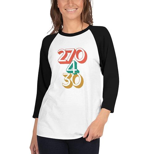 270/4/30 (3/4 sleeve raglan shirt)