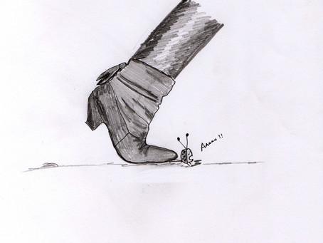 Het wegdoen van knellende schoenen
