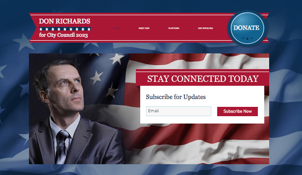 Community website templates – The Politician