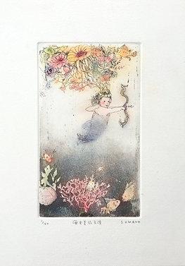 安井寿磨子作品 海女美依天使