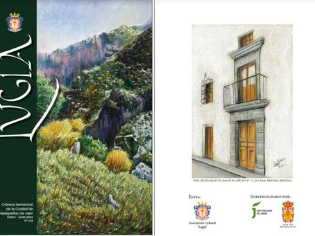 Una portada y contraportada de artistas locales, y a todo color, para la crónica número 134 de Lugia