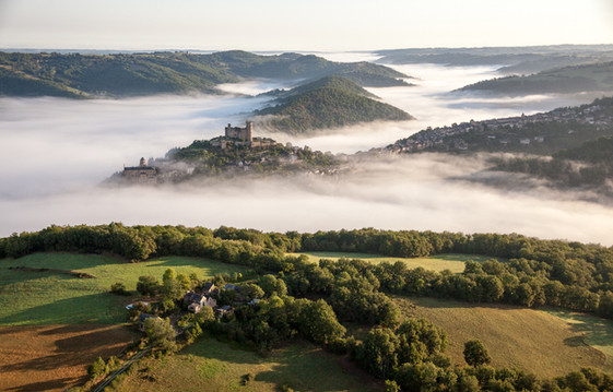 Vallée de l'Aveyron, Najac, France