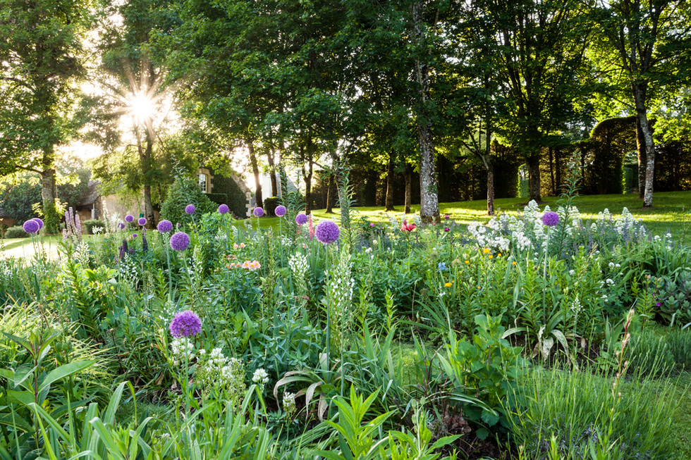 Flower Garden at Le Manoir d'Eyrignac