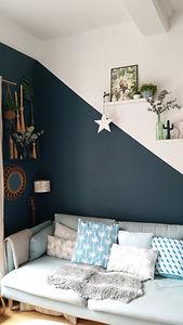 bleu dans le salon