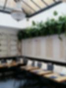 restaurant sous une verriere