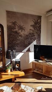 Tenture exotique en vrsion noir et blanc et extra large : coup de coeur de l'architecte d'intérieur