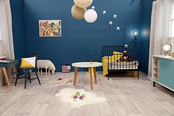 Bleu dans la chambre