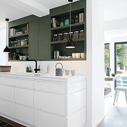 vert dans la cuisine
