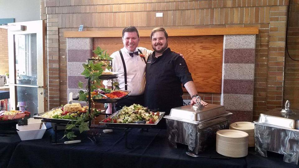 Matt and Josh with Salad Bar