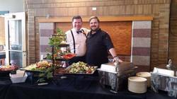 Matt and Josh with Salad Bar