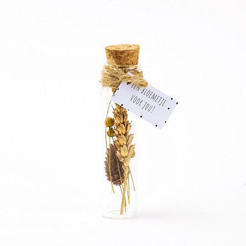 Droogbloem boeket goud 11cm