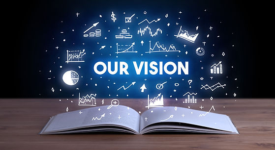 OUR VISION inscription coming out from a