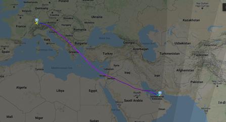 LH 704 FRA-MLE 11/1/20 (Flightradar24)