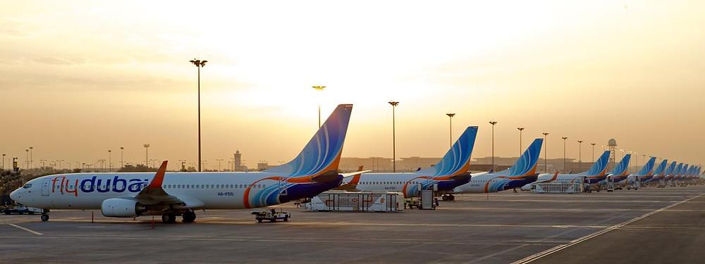 Flydubai 737s at DXB hub
