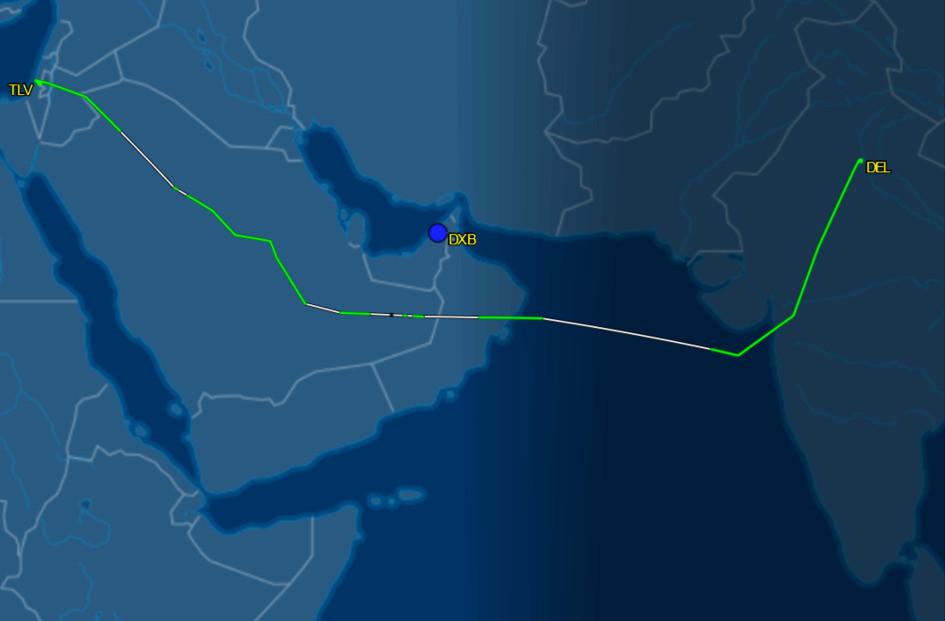 Air India repatriation flight Delhi to Tel Aviv 3/26/20