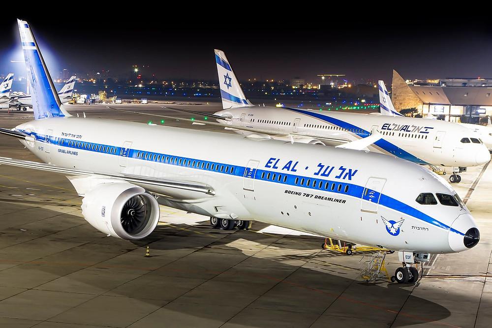 El Al 787 retro livery