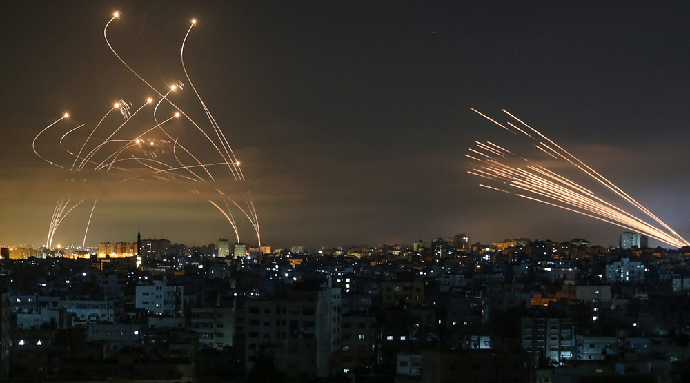 Hamas rockets and the Iron Dome defense system