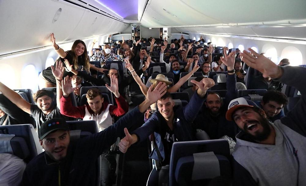 Passengers on onboard El Al flight from Lima to Tel Aviv 3/19/20