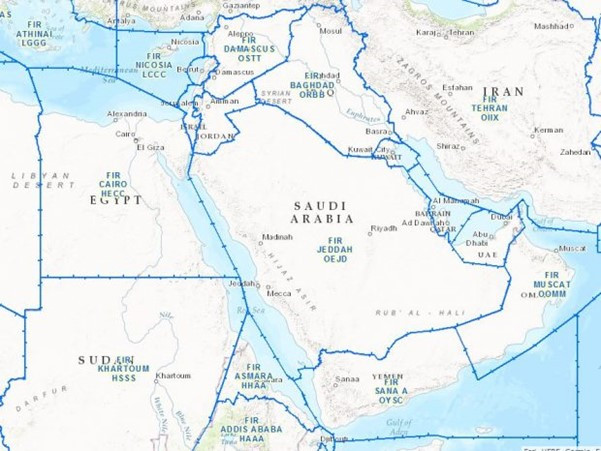 Middle East Flight Information Regions (ICAO)