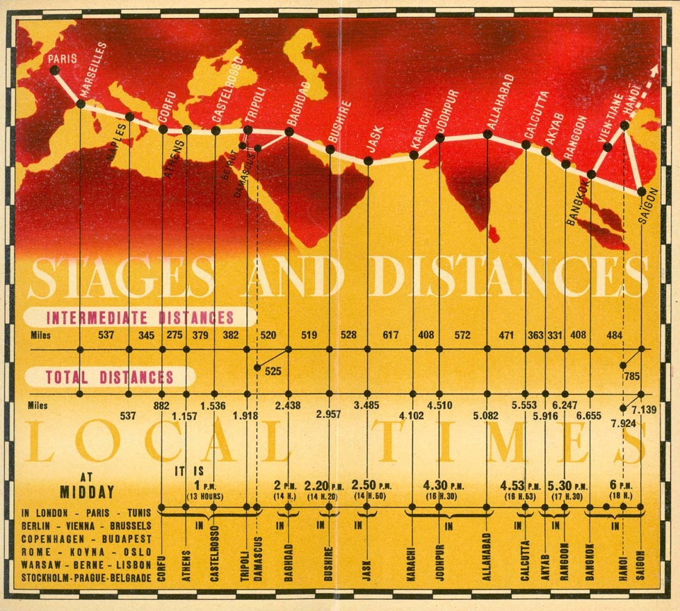 Air France Route Map (Date Unknown)