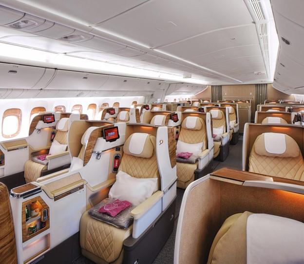 Emirates 777-300ER business class interior