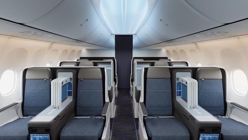 Flydubai 737 MAX first class interior