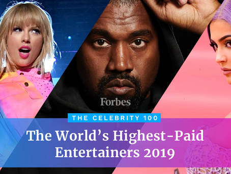 Forbes Released the Highest-Paid Celebrities: 2019