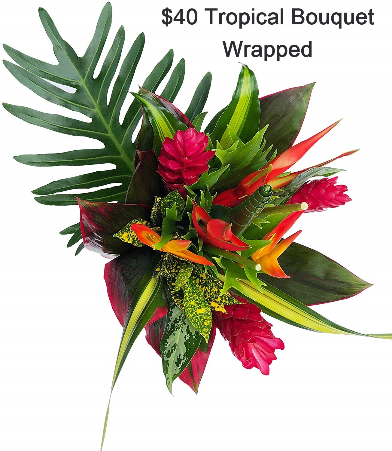 $40 Tropical bouquet- wrapped