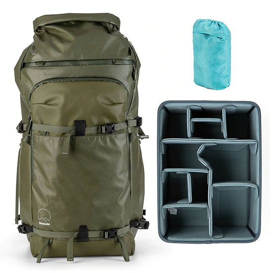 Shimoda Action X70 Backpack Army Green + Core Unit Large DV オリジナルセット