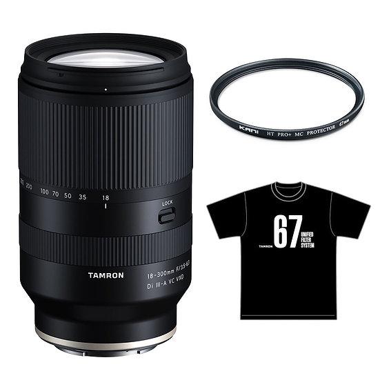 Tamron 18-300mm F/3.5-6.3 Di III / Sony E Mount +プロテクター+アルファホビー部 コラボ Tシャツ セット