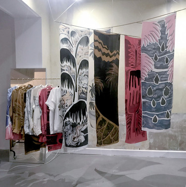 Permanent Vacation and Yoann Pisterman  Creation of unique Silk high hand painted Clothing -